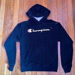 Champion Shirts - Black champion hoodie